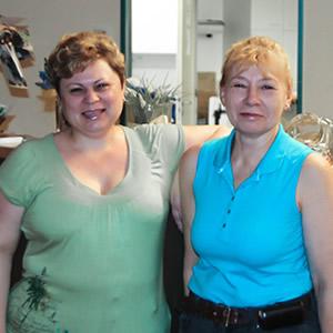 Tatjana Hermann und Tamara Holstein